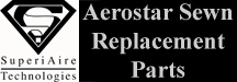 Aerostar sewn replacement parts produced under an FAA PMA. Parts include Top Caps, Parachutes, Skirts, Dippers, red lines and more.